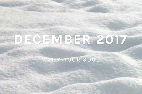 December 2017 Collection text on snow