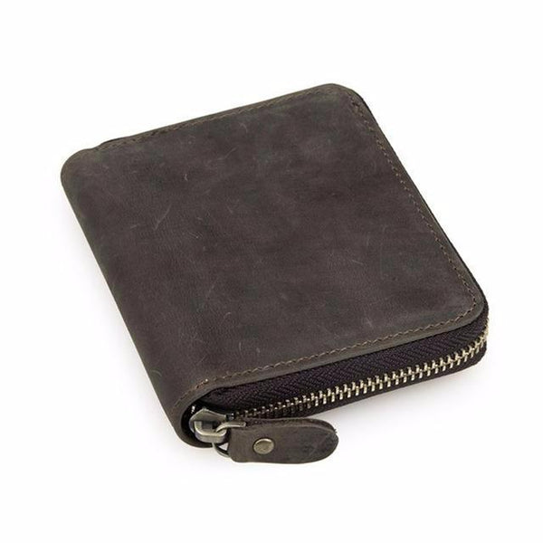 """Zip It"" Men's Leather Zip Wallet"