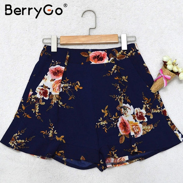 Women's Casual Flower Shorts