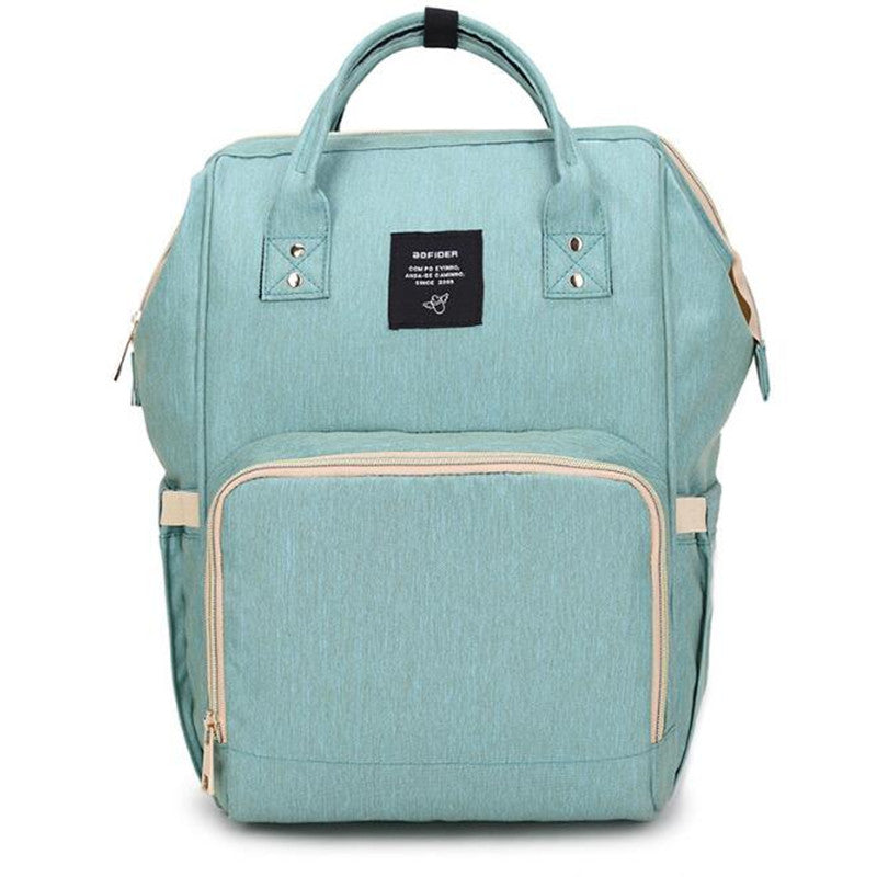 """Nursing Buddy"" Travel Backpack in Green"