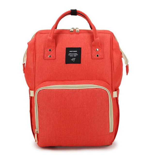 """Nursing Buddy"" Travel Backpack in Red"