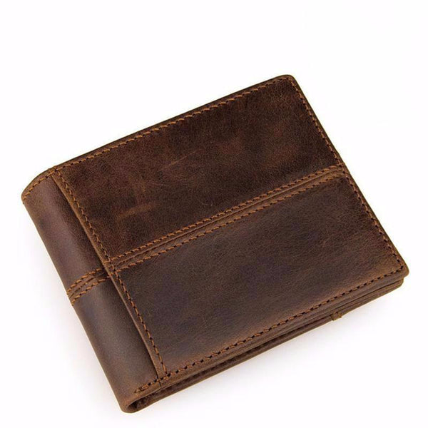 """Adam"" Men's Leather Wallet in Brown"