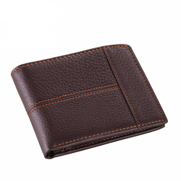 """Adam"" Men's Leather Wallet in Coffee"