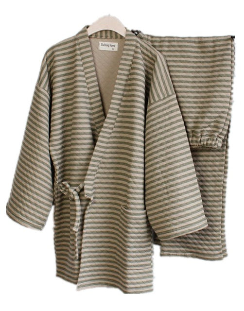 """Story Time"" Women's Kimono Sleep Set in Green"