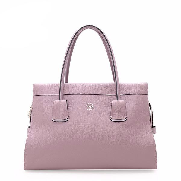 women's large minimal leather purse in light purple