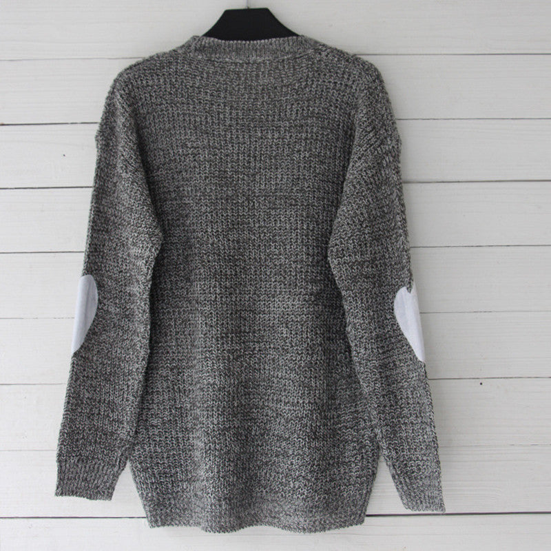 """Heart On Your Sleeve"" Women's Sweater in Grey"