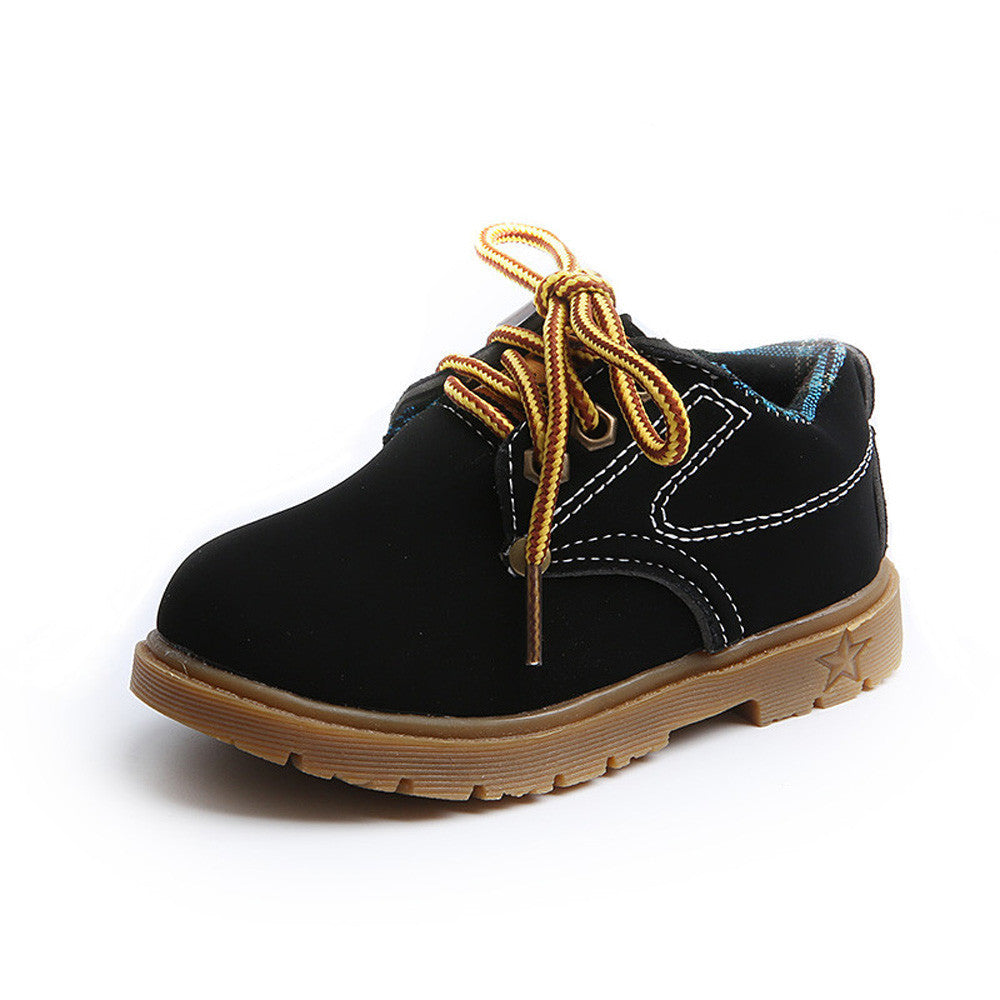 """At Work"" Kids Boots in Black"