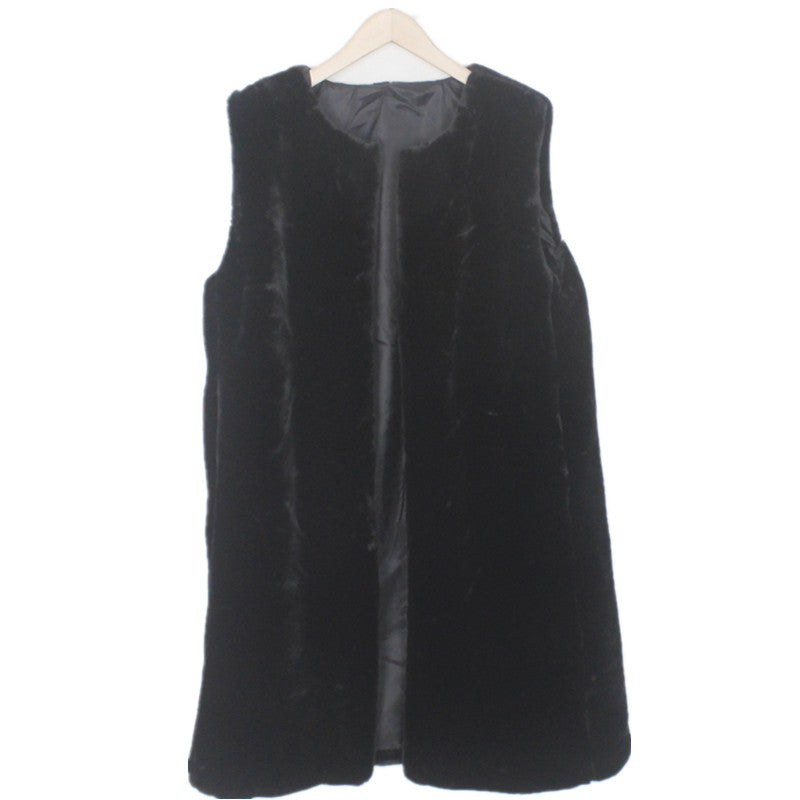 """The Best Vest"" Women's Faux Fur Vest in Black"