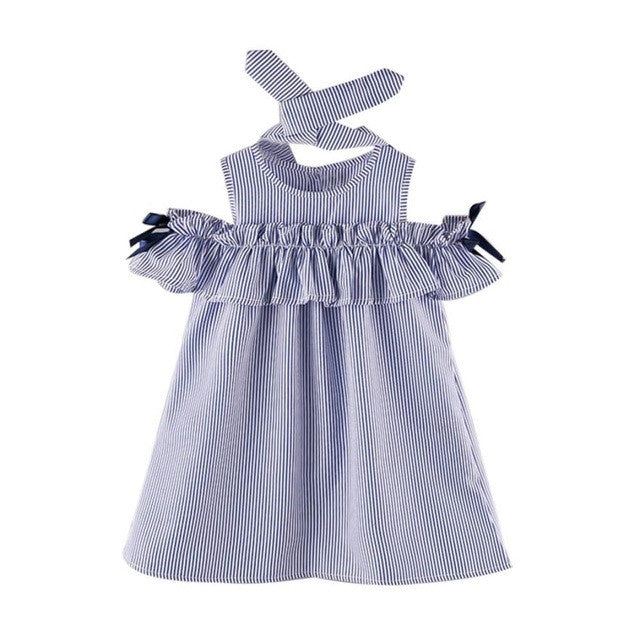 Girls Summer Dress with Hair Band