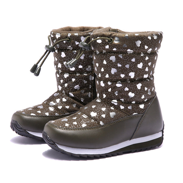 """Warm Hearts"" Kids Boots in Black"