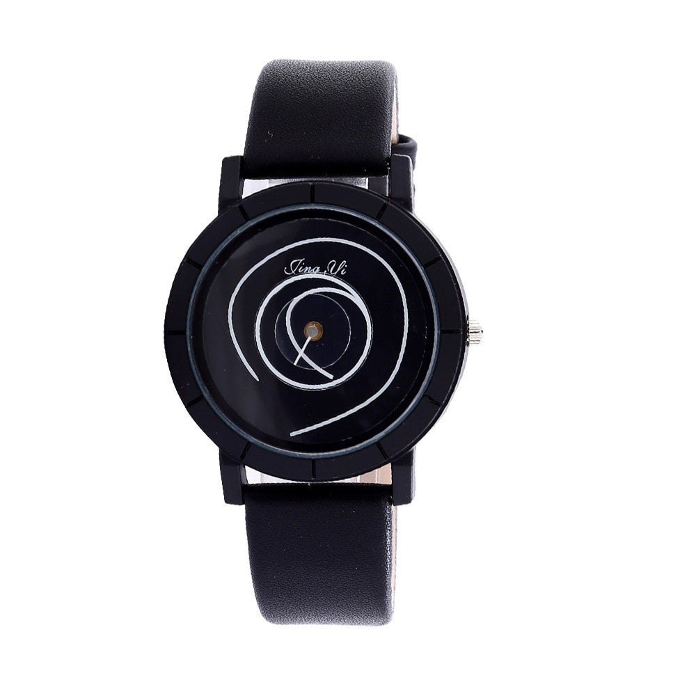 """Swirl"" Men's Watch in Black"