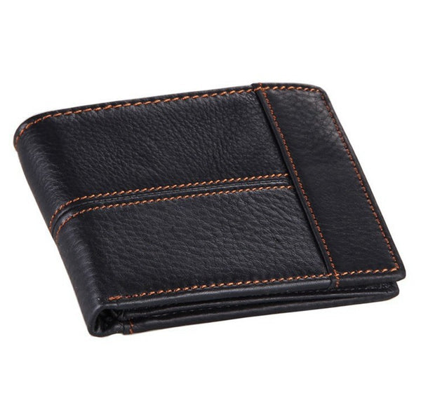 """Adam"" Men's Leather Wallet in Black"