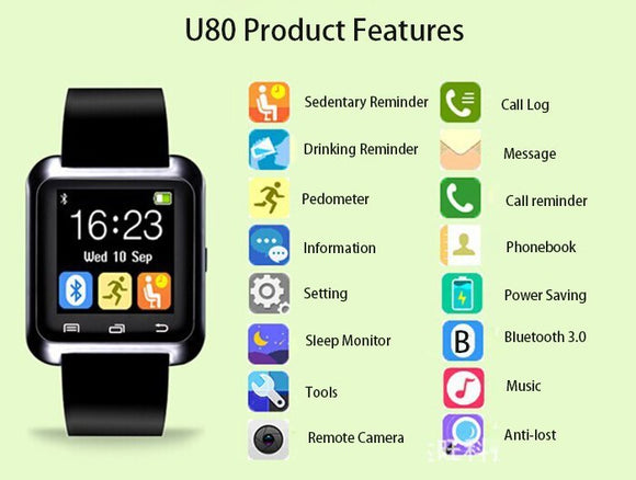 Smart sat NOVO Watch U80 Pametan Sat Bluetooth Smart sat