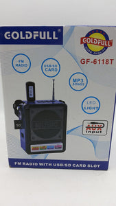 GF-6118T Zvučnik radio MP3/SD card AKCIJA-Zvučnik radio MP3