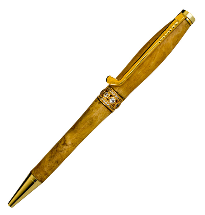 Handcraft Wooden Pen Made From New Zealand Gorse Burl Pen with Golf Club Clip