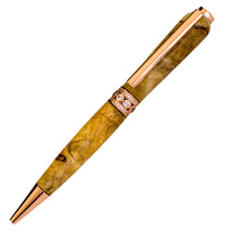 Handcraft Wooden Pen Made From New Zealand Gorse Burl with Jewelled Ring