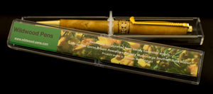 A Great Christmas Gift Handcraft Wooden Pen Made From New Zealand Gorse Burl Pen with Golf Club Clip
