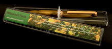 Perfect Christmas Gift a Handcraft Wooden Pen Made From New Zealand Gorse Burl with Jewelled Ring