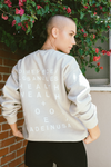 Dimepiece Health & Wealth Sweatshirt in Sandstone