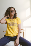 Dimepiece Ball is Life Unisex Tee Gold