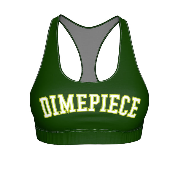 Dimepiece Forrest Green Summer Sports Bra