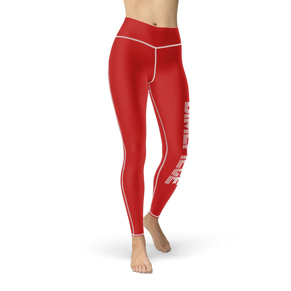 Dimepiece Championship Red Women's  Sport Leggings