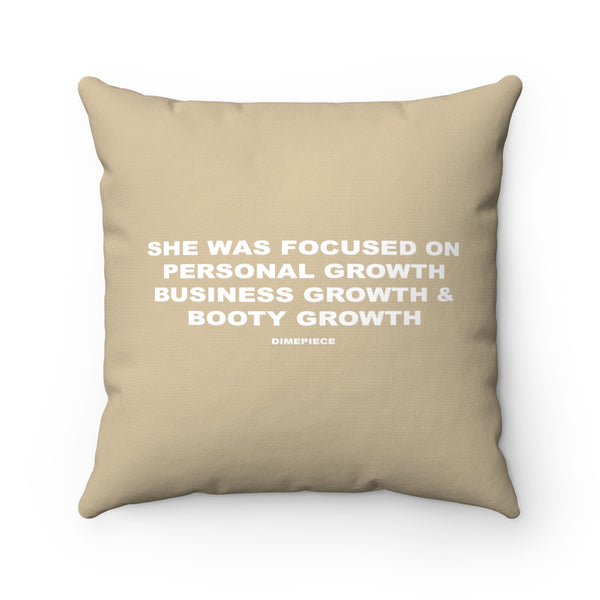 Dimepiece Home Growth Spun Square Pillow
