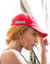 Dimepiece Racing Checker Hat Red