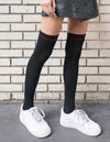 Treat Your Girl Right Thigh High Socks Black