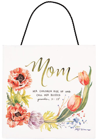 Mom Hanging Plaque