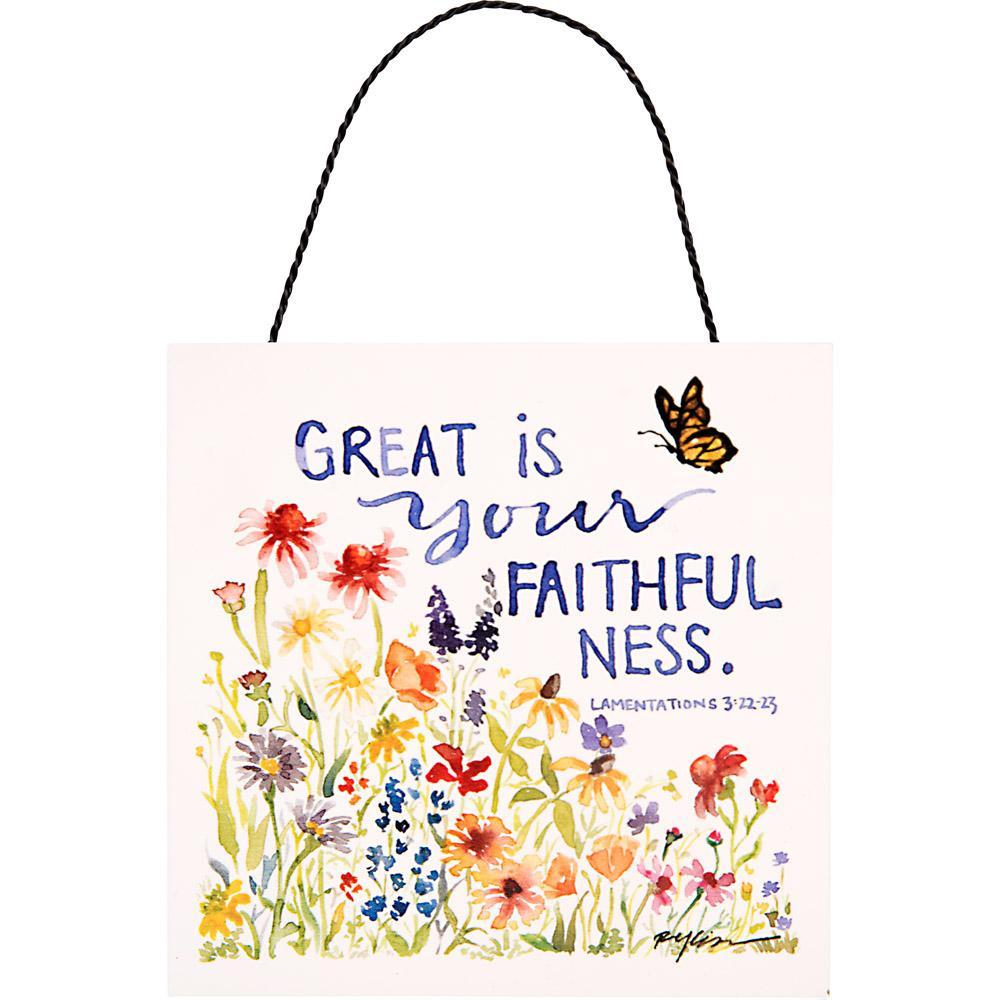 Great is Your Faithfulness Hanging Plaque