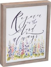 Rejoice in the Lord Framed Plaque