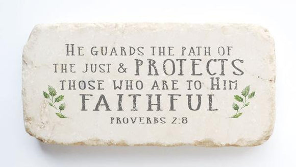 Twelve Stone Art - Half Block - Proverbs 2:8