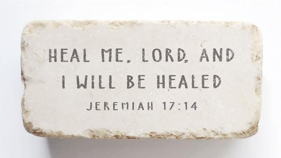 Twelve Stone Art - Half Block - Jeremiah 17:14