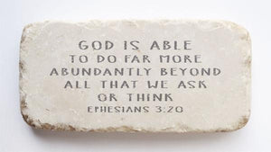 Twelve Stone Art - Half Block - Ephesians 3:20