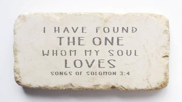 Twelve Stone Art - Half Block - Songs of Solomon 3:4