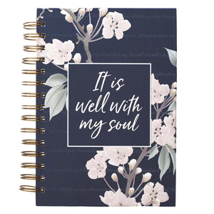 Journal Wirebound It Is Well With My Soul