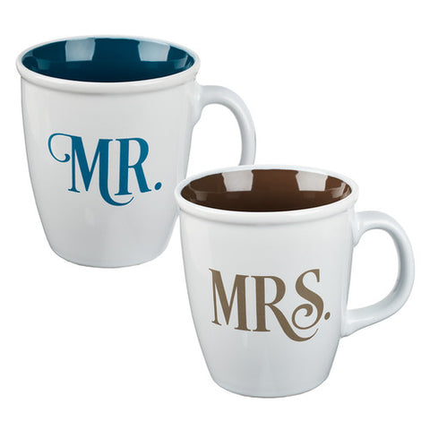 Mug Set 2pc Mr and Mrs