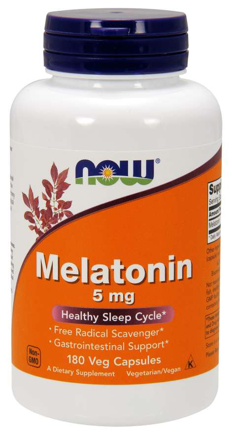 Melatonin 5 mg - 180 Veg Capsules