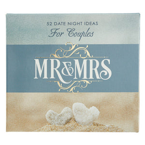 Mr and Mrs Date Night Idea Cards for Couples