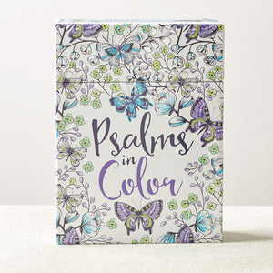 Psalm Coloring Cards in color