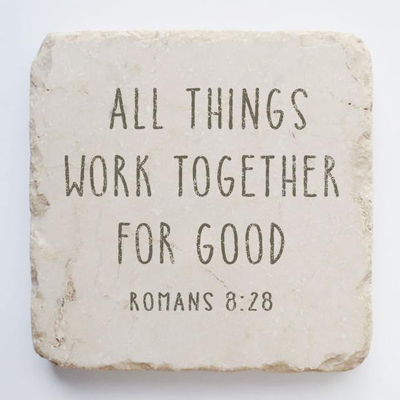 Twelve Stone Art - Small Block - Romans 8:28