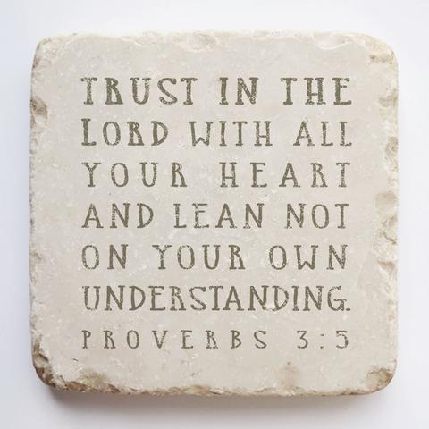 Twelve Stone Art - Small Block - Proverbs 3:5