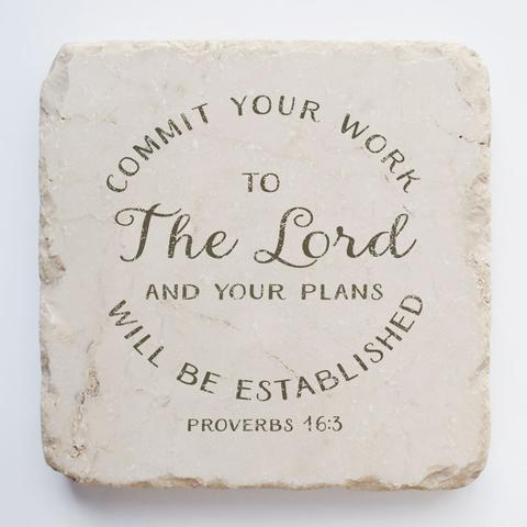 Twelve Stone Art - Small Block - Proverbs 16:3
