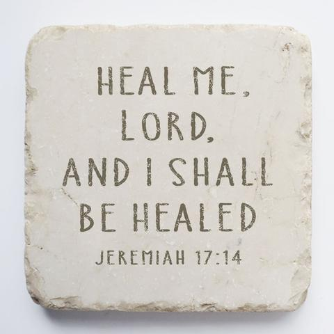 Twelve Stone Art - Small Block - Jeremiah 17:14
