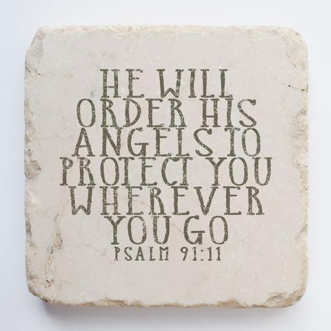 Twelve Stone Art - Small Block - Psalm 91:11