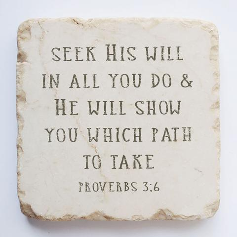 Twelve Stone Art - Small Block - Proverbs 3:6