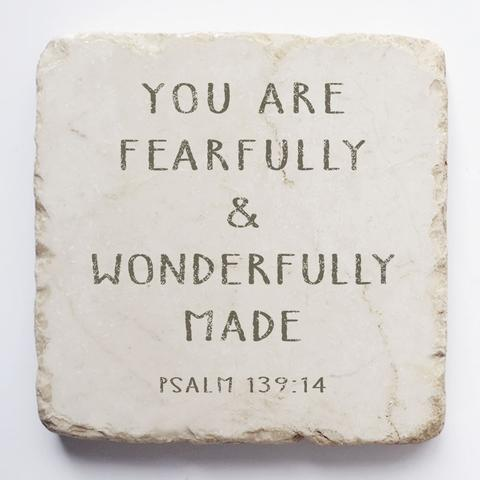 Twelve Stone Art - Small Block - Psalm 139:14