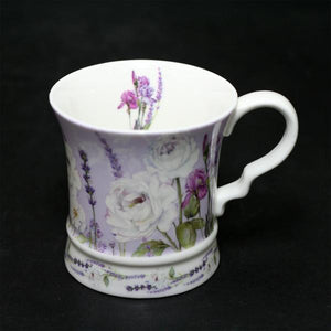 New Bone China Mug with Gift box and Ribbon – Lavender