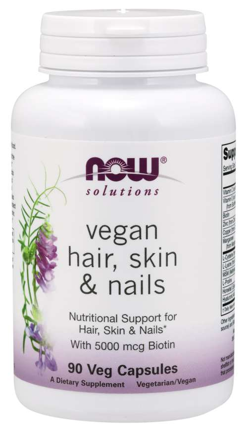 Hair, Skin & Nails, Vegan - 90 Veg Capsules